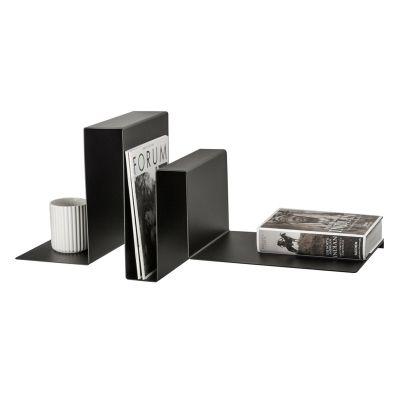 SILHOUETTE LUWAN - sort designer boghylde, aluminium