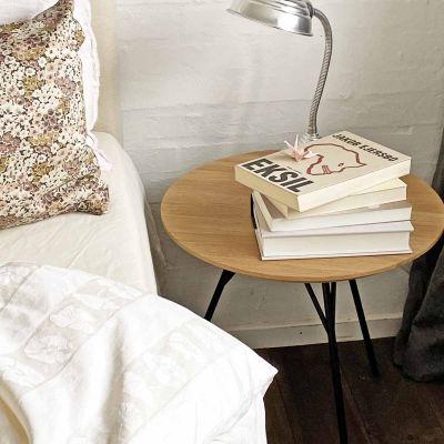 SPACE TABLE - sofabord i massiv eg, olieret, ø47 cm