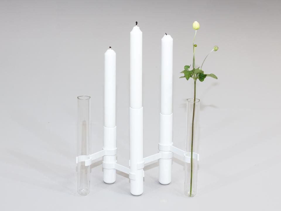 GRAB LYSESTAGE - mat hvid